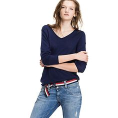 a5f34259 Image for V-NECK SWEATER from Tommy Hilfiger Tommy Hilfiger Fashion,  Hilfiger Denim,