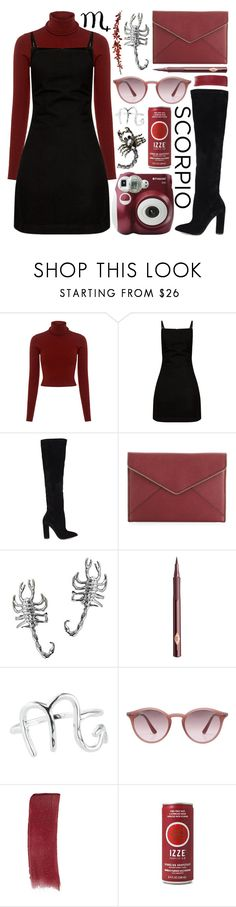 """scorpio"" by tropicalcraze ❤ liked on Polyvore featuring A.L.C., ALDO, Rebecca Minkoff, Charlotte Tilbury, Rock 'N Rose, Ray-Ban, Gucci and cosmicjewelry"