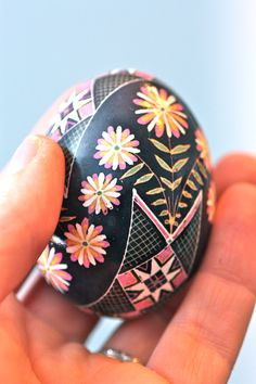 Ring-Around-The-Rosy Pysanky Egg: