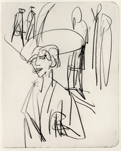Study on Red Tart by @artistkirchner #expressionism