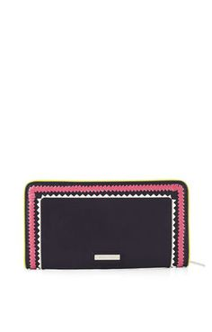 Nieve Whipstitch Detail Continental Wallet - bcbg