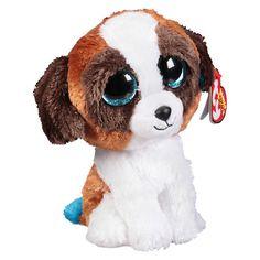 Ty Beanie Boos Plush Toy Duke Dog Brown White 3f61f542b71e
