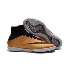 2016 Nike Mercurial X Proximo Street IC Botas De Futbol Indoor Oro Negro e3ccf975dea7a
