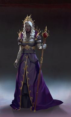 Dark Elf Queen by demonui on DeviantArt