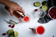 Raspberry Thyme Smash Cocktail Recipe