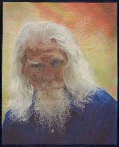 Jennifer Day Quilt Arts. idea for a picture of Grandpa Smith.