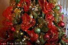 Fancy Christmas Tree Deco Mesh Video Tutorial