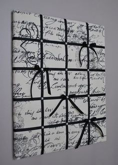 French script memo board Fabric wall art by MemoBoardsNMore … Fabric Pin Boards, Ribbon Boards, Cork Boards, Diy Memo Board, Bulletin Board, French Memo Boards, Fabric Wall Art, French Script, Picture Boards
