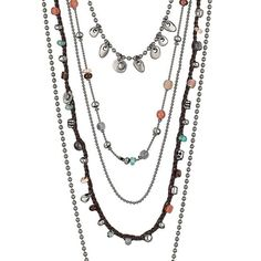 This Uno de 50 Call Me Rocio long necklace features various rows of  silver-plated chain cb1d6c5157cb7