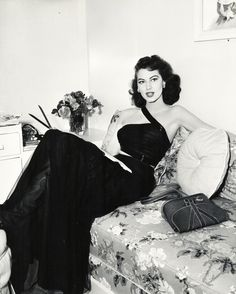 Ava Gardner on the set of The Bribe (1949)