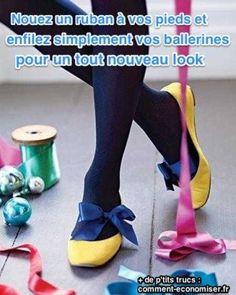 Vos ballerines sont super jolies. Mais vous ne savez pas comment leur donner un nouveau look unique.  Découvrez l'astuce ici : http://www.comment-economiser.fr/methode-simple-customiser-ballerines.html?utm_content=buffere617b&utm_medium=social&utm_source=pinterest.com&utm_campaign=buffer