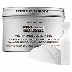 Peter Thomas Roth - 40% Triple Acid Peel  #Sephora  I love this product.  I am in week number 3 and I can see the improving in fine line  I also see and feel a tightening to my skin...but maybe I am imaging that event!