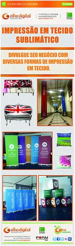 Olho Digital Programação Visual Impressão em tecido - A Olho Digital TEM! www.olhodigital.art.br comercial@olhodigital.art.br 11 56779292