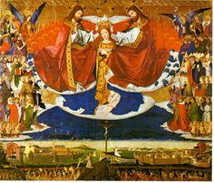 Le Couronnement de la Vierge, peint par Enguerrand Quarton en 1454 (musée de Villeneuve-lès-Avignon).
