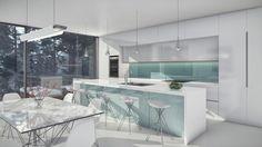 Detalles de interiores en cocina estilo moderno de Aodk Architecture, con Lumion 7.3   Detailed modern kitchen of townhouse by Aodk Architecture Design Files, Software, Kitchen, Ideas, Home Decor, Scenery, Architects, Trendy Tree, Cooking