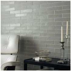 Soft Grey Column - Ladrillo - Wall & Floor Tiles | Fired Earth