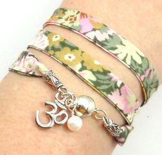 Om Wrap Bracelet Liberty of London Fabric by charmeddesign1012, $28.99