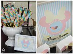 Festa sorveteria da Minnie | Uma festa linda pra inspirar com muito sorvete, candy colors, docinhos e fofurices