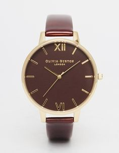 Olivia Burton Tortoise Patent Big Dial Watch