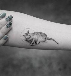 Cute cat tattoo - 100+ Examples of Cute Cat Tattoo
