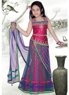 Exotic Net Lehenga Choli | Kids Lehengas | Kids Clothing : www.homeindia.com