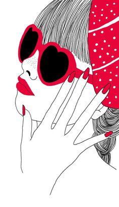 Kai Fine Art is an art website, shows painting and illustration works all over the world. Art Pop, Pop Art Girl, Photocollage, Cartoon Art, Female Art, Cute Art, Art Drawings, Sketches, Artwork