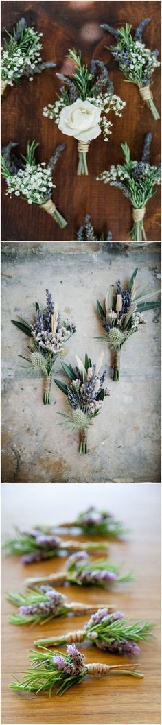 lavender wedding boutonniere ideas