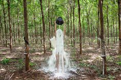 Following on from Khvay Samnang's previous works such as Untitled (2011), and Where is my Land? (wit h Nget Rady) (2014), Rubber Man (2015) confronts a contested landscape with poetic resistance. For over one year, Khvay Samnang repeatedly returned to Rattanakiri, Cambodia's northeastern highland province, to survey the altered environment—from the remaining villages to the strategic clearings, from rubber tree saplings to mature plantations. His three-channel video installation frames these…