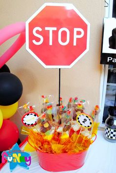 Cars Birthday Party Ideas | Photo 1 of 17 | Catch My Party