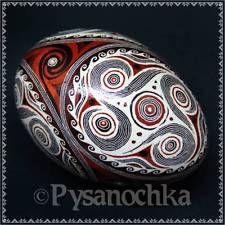 Real Ukrainian Pysanka Goose Trypilian Pysanky Best by Halyna, Easter Egg