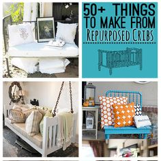 50+ Ways to Repurpose cribs and crib springs @savedbyloves