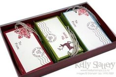 Stampin Up! Christmas Tags Boxed set