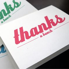 Minted Strawberry: PRINTABLE: Thank You Cards