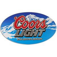 Coors Light Oval Tin Sign  http://www.retroplanet.com/PROD/36875