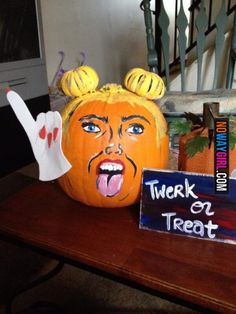 Miley Cyrus twerking pumpkin for Halloween?