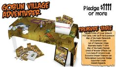 Goblin Village Level Supporter Rewards for Kickstarter Campaign #GoblinsGame