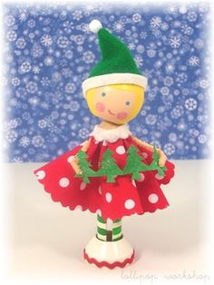 CHRISTMAS Clothespin Doll