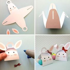 Easter egg packaging: 40 creative ideas to make yourself! Kids Crafts, Bunny Crafts, Easter Crafts, Holiday Crafts, Diy And Crafts, Easter Ideas, Diy Gift Box, Diy Gifts, Egg Packaging