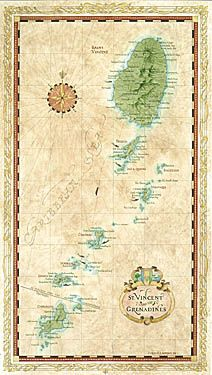 Map of St Vincent