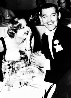 Clark Gable (his fourth wife) and Carole Lombard (her second & sadly, last, due to her death from an airplane crash) Lombard's career was cut short when she died at the age of 33 in a plane crash while returning from a World War II Bond tour. (m.1939–1942; her death)