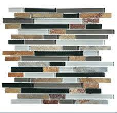 Finally Picked My Backsplash Graphite Glass Slate Strip Mosaics