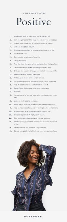 27 ways to be stay positive! Personal development ideas, self improvement tips, self help activities, psychology hacks, and how to be happy. Vie Positive, Positive Mindset, Positive Affirmations, Quotes Positive, Happy Quotes, Positive Vibes, Positive Living, Happiness Quotes, Tips For Happiness