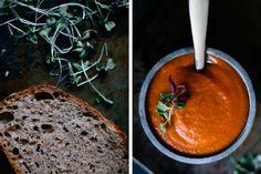 Vegan Gluten Free Recipes - Easy Soup Recipes - Coconut Curry + Tomato + Carrot Soup Recipe