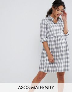 df3e7bc5b45de Buy Gray Asos maternity Shirtwaist dress for woman at best price. Compare  Dresses prices from online stores like Asos - Wossel Global