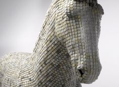 German artist Babis has created this incredible sculpture made out of thousands of recycled computer keyboard keys. The sculpture, named Hedonism(y) Trojaner,. Design Thinking, Creative Thinking, Computer Board, Service Design, Cavalier Bleu, Keyboard Keys, Keyboard Letters, Trojan Horse, Leather Lingerie
