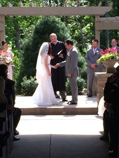 Wedding Ceremony in the Gardens at Sand Springs in Drums, PA