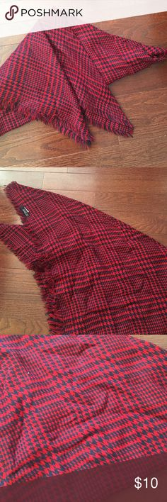 Selling this Blue/red checkered blanket scarf on Poshmark! My username is: ariannagk. #shopmycloset #poshmark #fashion #shopping #style #forsale #Cotton On #Other