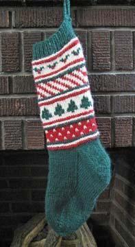 Christmas Stripes Stocking  (ST-001) - via @Craftsy