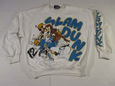 vintage 1987 slam dunk mens crewneck sweater by u.s. pro size large  | eBay