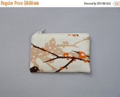 SALE Rustic Woodland Coin Purse Beige Tan by 9thCycleCraftworks